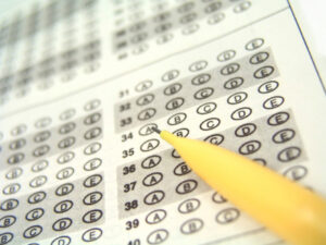 Answer sheet w pencil