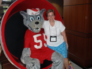 Megan Dorsey visits North Carolina State Wolfpack Football (June 2010)