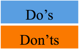 Do's and Don'ts Graphic