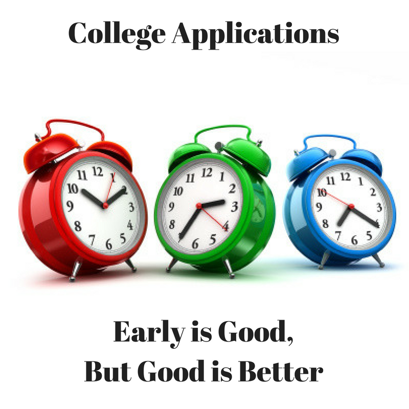 College Applications: Early is Good, But Good is Better