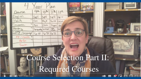 Course Selection Part II: Required Courses