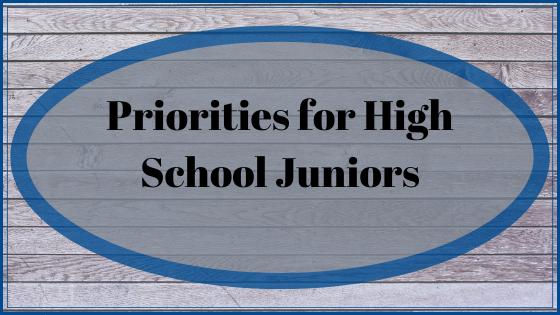 Priorities for High School Juniors