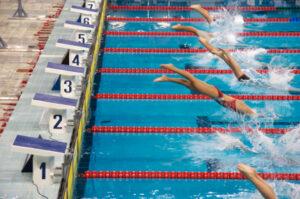 Pacing swim race